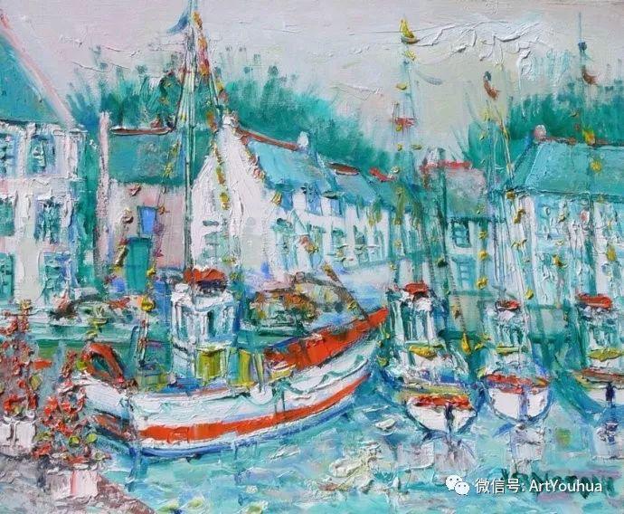 蓝色调风景油画  法国画家Yolande Ardissone插图19