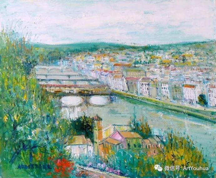 蓝色调风景油画  法国画家Yolande Ardissone插图21