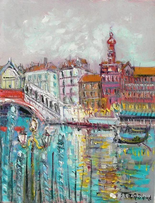 蓝色调风景油画  法国画家Yolande Ardissone插图25