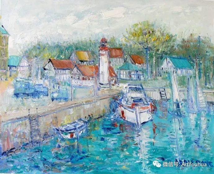 蓝色调风景油画  法国画家Yolande Ardissone插图27