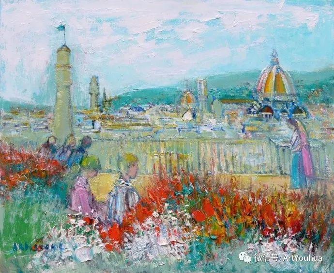 蓝色调风景油画  法国画家Yolande Ardissone插图29
