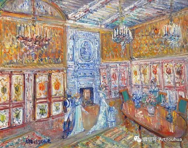 蓝色调风景油画  法国画家Yolande Ardissone插图31