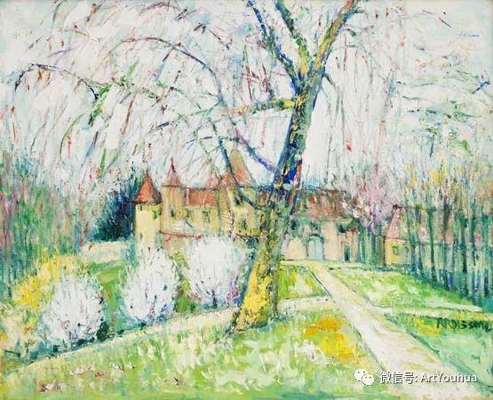 蓝色调风景油画  法国画家Yolande Ardissone插图33