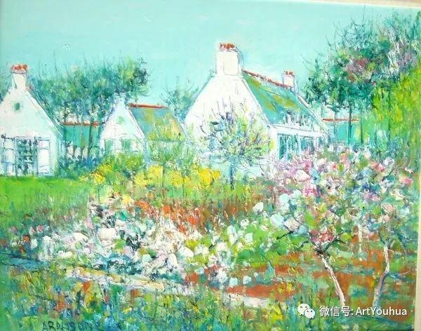 蓝色调风景油画  法国画家Yolande Ardissone插图35