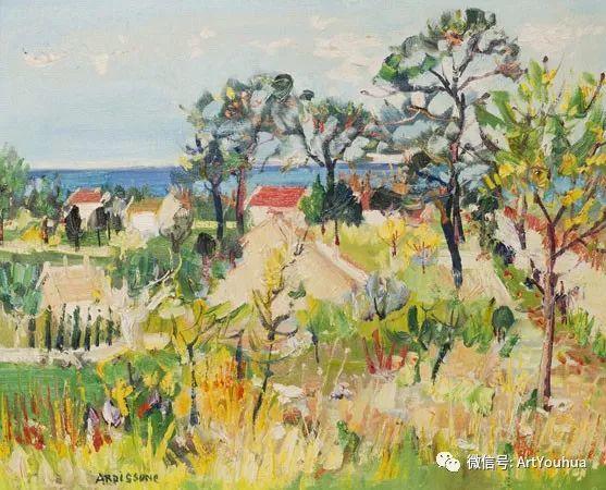 蓝色调风景油画  法国画家Yolande Ardissone插图37