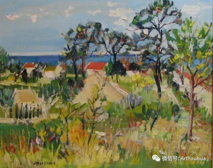 蓝色调风景油画  法国画家Yolande Ardissone插图39