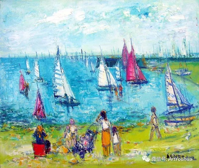 蓝色调风景油画  法国画家Yolande Ardissone插图41