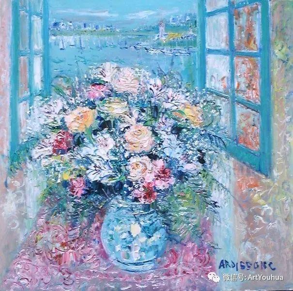 蓝色调风景油画  法国画家Yolande Ardissone插图43