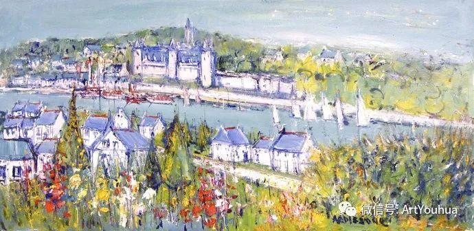 蓝色调风景油画  法国画家Yolande Ardissone插图45