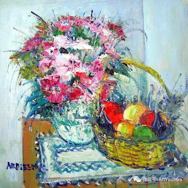蓝色调风景油画  法国画家Yolande Ardissone插图47