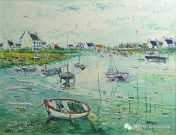 蓝色调风景油画  法国画家Yolande Ardissone插图49