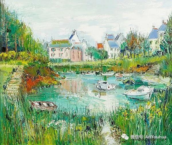 蓝色调风景油画  法国画家Yolande Ardissone插图51