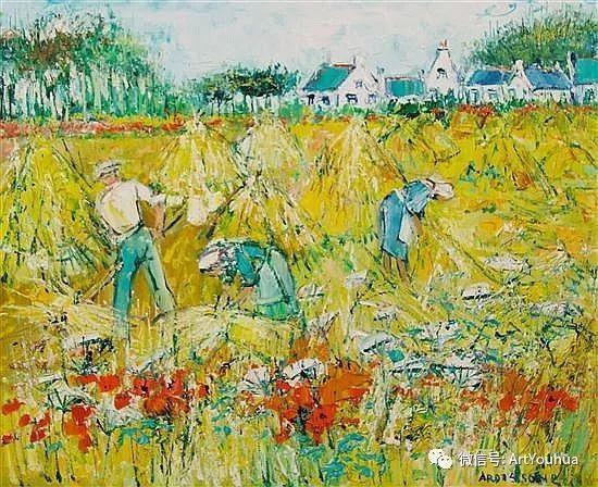 蓝色调风景油画  法国画家Yolande Ardissone插图53