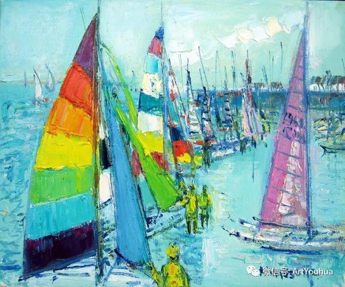 蓝色调风景油画  法国画家Yolande Ardissone插图55