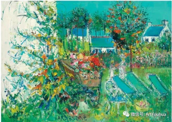 蓝色调风景油画  法国画家Yolande Ardissone插图61