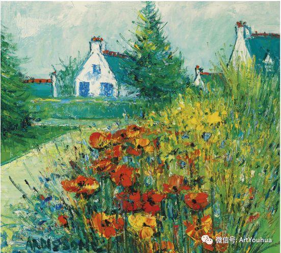蓝色调风景油画  法国画家Yolande Ardissone插图63
