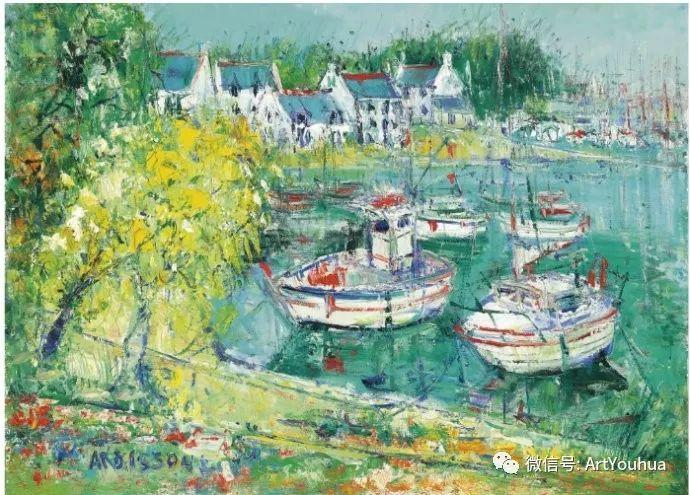蓝色调风景油画  法国画家Yolande Ardissone插图65