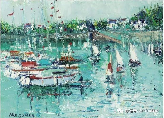 蓝色调风景油画  法国画家Yolande Ardissone插图67