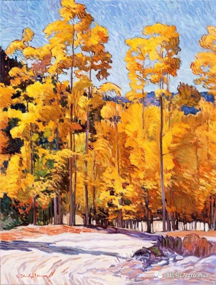 风景油画欣赏 美国画家Robert Daughters插图
