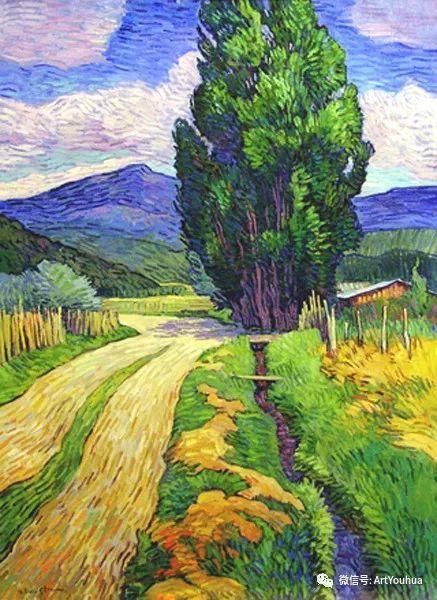 风景油画欣赏 美国画家Robert Daughters插图8