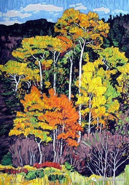 风景油画欣赏 美国画家Robert Daughters插图10