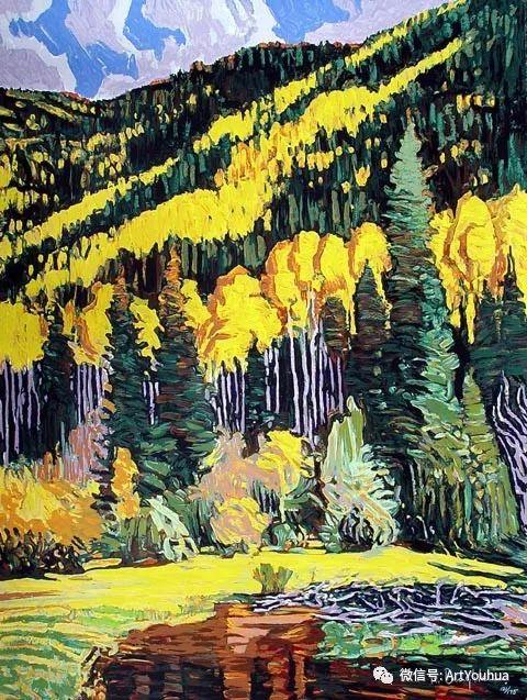 风景油画欣赏 美国画家Robert Daughters插图16