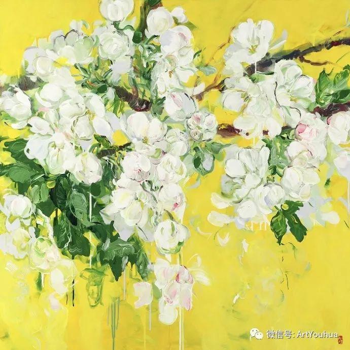 加拿大画家Bobbie Burgers花卉作品欣赏插图1
