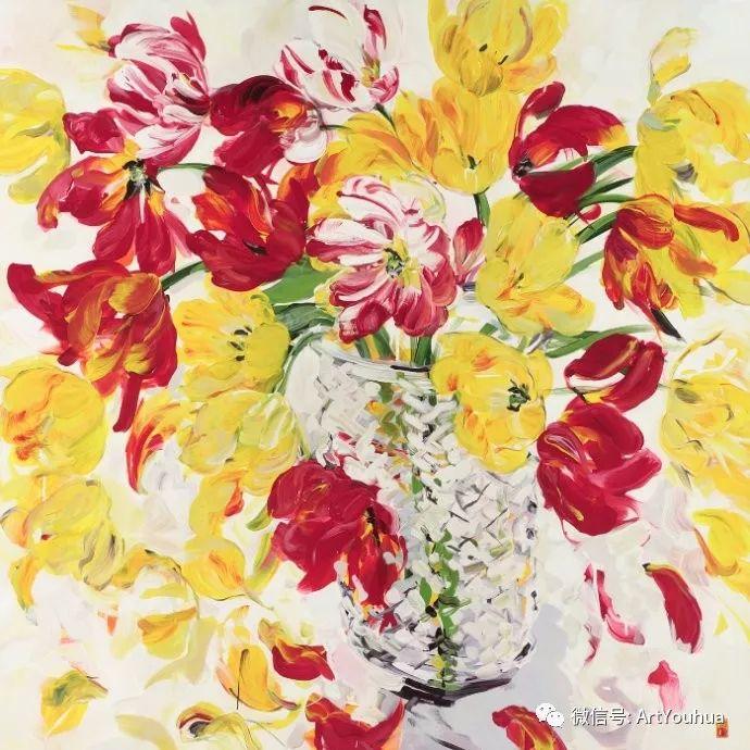 加拿大画家Bobbie Burgers花卉作品欣赏插图3