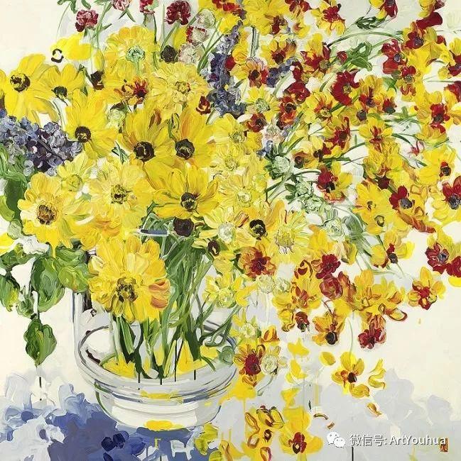 加拿大画家Bobbie Burgers花卉作品欣赏插图17