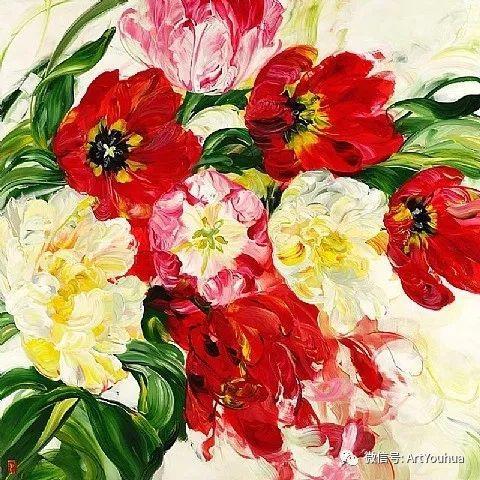 加拿大画家Bobbie Burgers花卉作品欣赏插图41