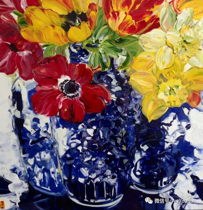 加拿大画家Bobbie Burgers花卉作品欣赏插图45