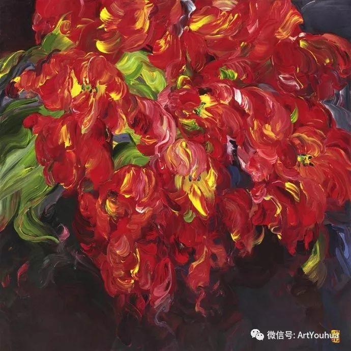 加拿大画家Bobbie Burgers花卉作品欣赏插图49