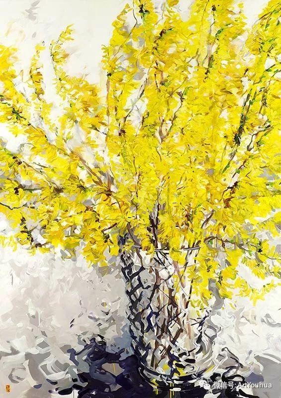 加拿大画家Bobbie Burgers花卉作品欣赏插图61