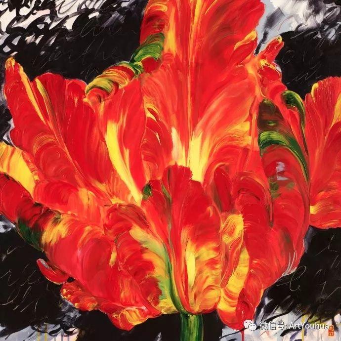 加拿大画家Bobbie Burgers花卉作品欣赏插图67