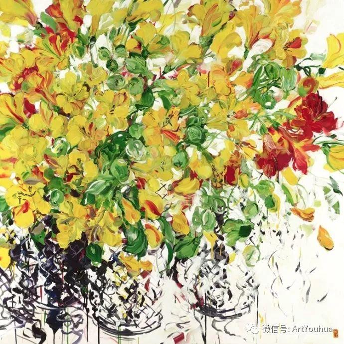 加拿大画家Bobbie Burgers花卉作品欣赏插图69