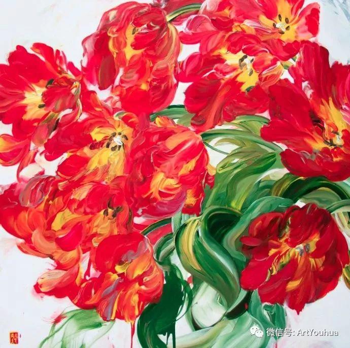 加拿大画家Bobbie Burgers花卉作品欣赏插图77