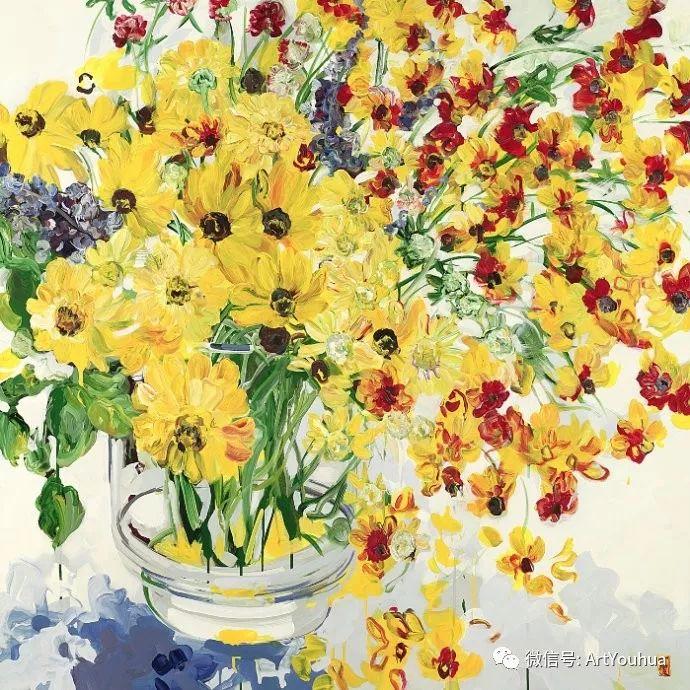 加拿大画家Bobbie Burgers花卉作品欣赏插图97