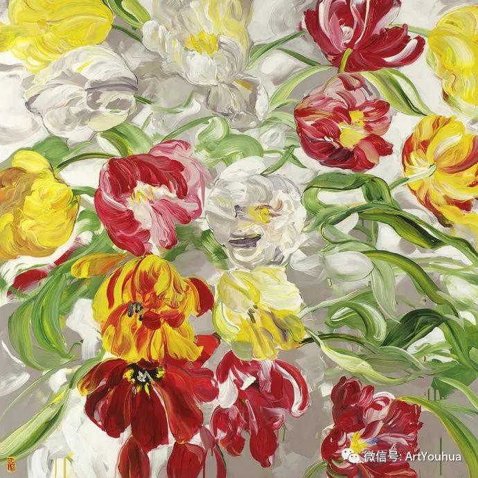 加拿大画家Bobbie Burgers花卉作品欣赏插图99