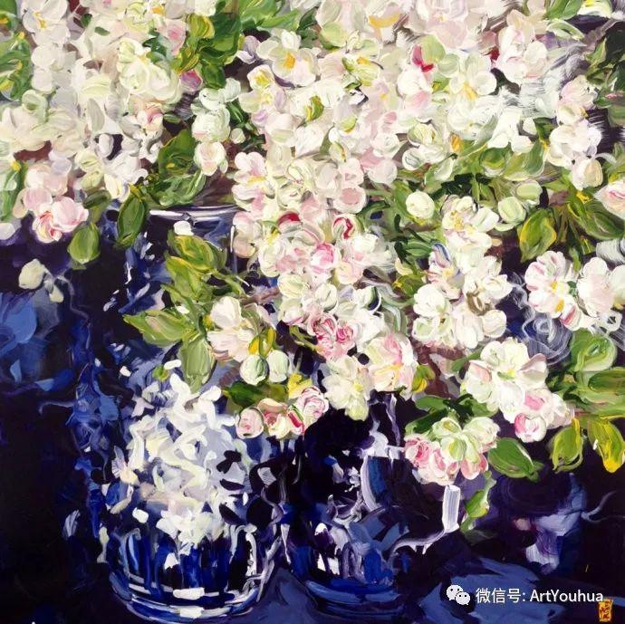 加拿大画家Bobbie Burgers花卉作品欣赏插图105