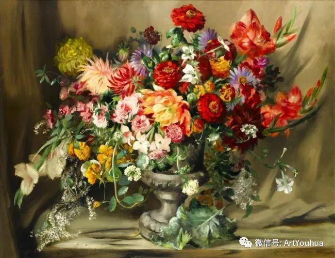 花卉油画 英国画家Cecil Kennedy插图1