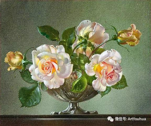 花卉油画 英国画家Cecil Kennedy插图3