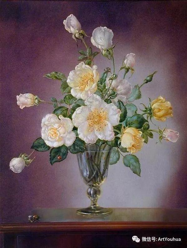 花卉油画 英国画家Cecil Kennedy插图7