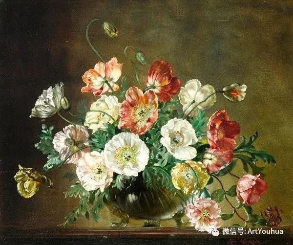 花卉油画 英国画家Cecil Kennedy插图15