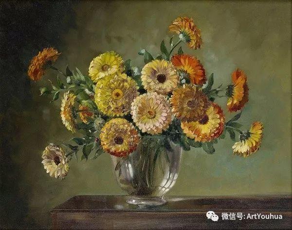 花卉油画 英国画家Cecil Kennedy插图17