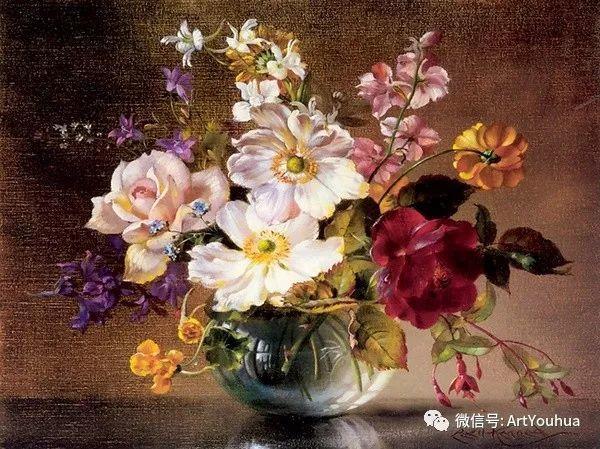 花卉油画 英国画家Cecil Kennedy插图21