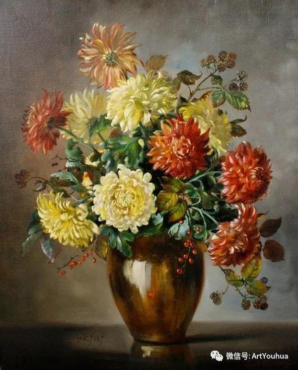 花卉油画 英国画家Cecil Kennedy插图27