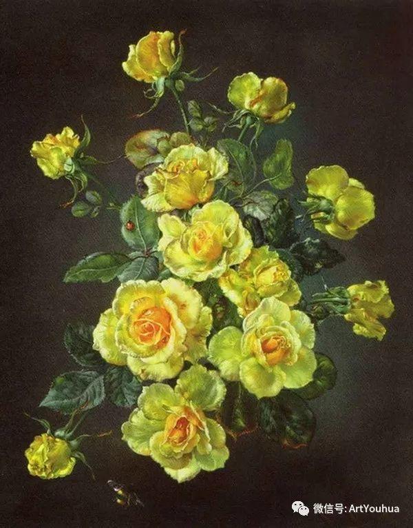 花卉油画 英国画家Cecil Kennedy插图29