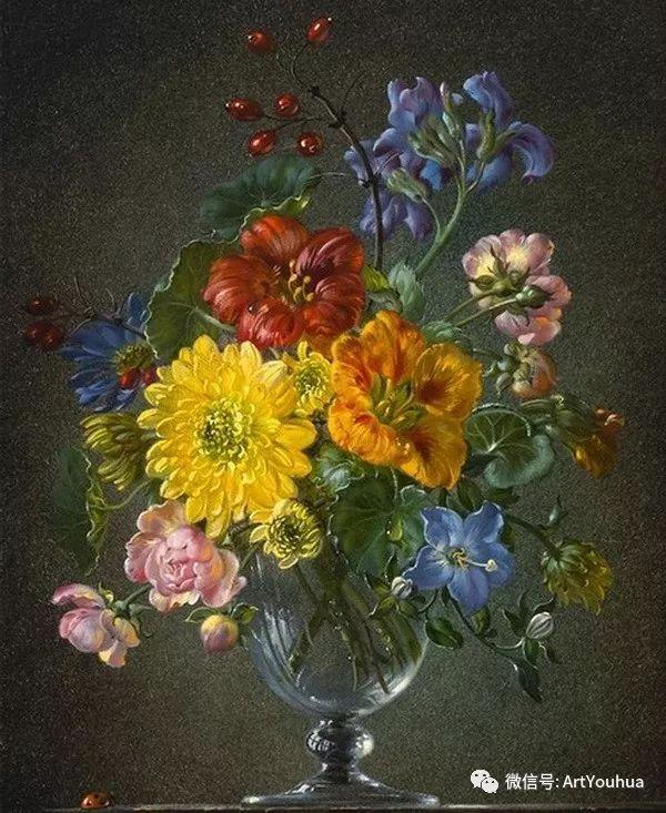 花卉油画 英国画家Cecil Kennedy插图33