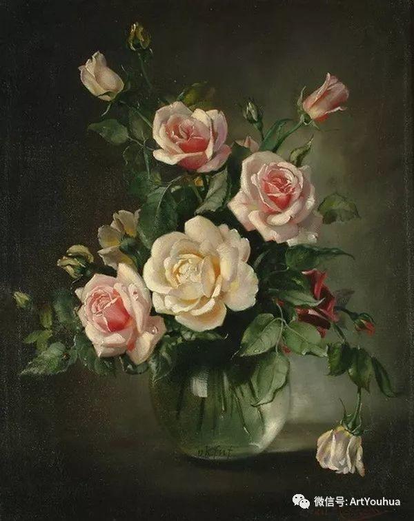 花卉油画 英国画家Cecil Kennedy插图35