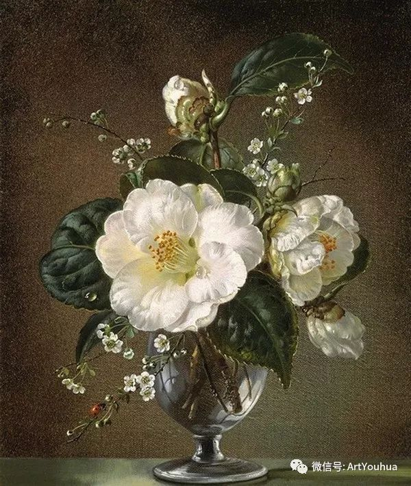 花卉油画 英国画家Cecil Kennedy插图37